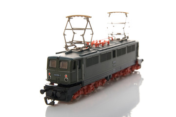 Toy electric locomotive