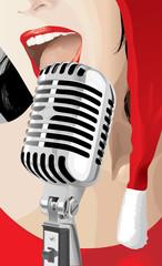 Christmas Singer (vector or XXL jpeg image)