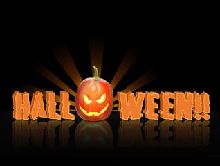 scritta halloween sul nero