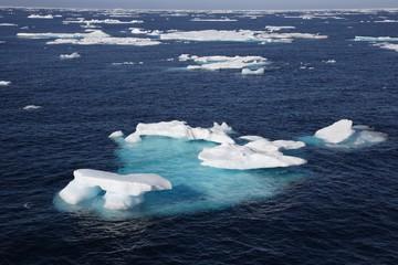 Eisfeld in der Arktis