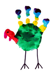 Thanksgiving turkey child art