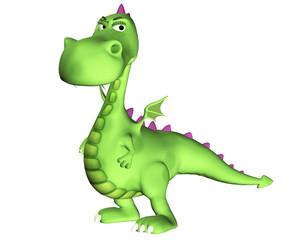 Dragon Cartoon - Suspicious Look