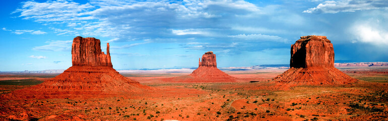 Aluminium Prints Brick monument valley formations panorama
