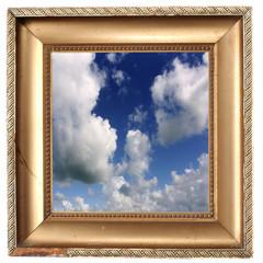 blue sky in golden frame