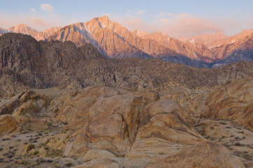 Alpen Glow on Eastern Sierra