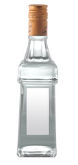 A bollte of vodka isolated on white background