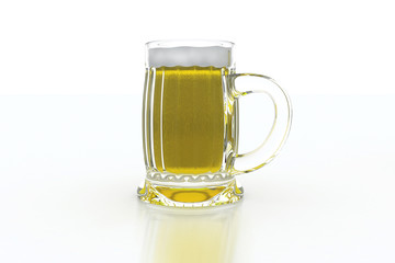 beer mug od white background