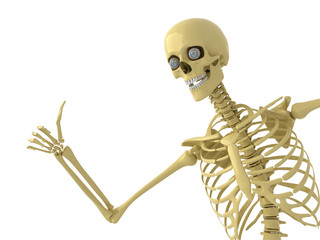 Skeleton with thums up
