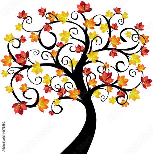 arbre l 39 automne illustration fichier vectoriel libre. Black Bedroom Furniture Sets. Home Design Ideas