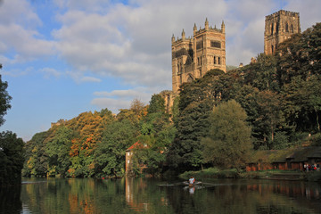 Reflections in the river Wear, Durham Cathedral Towers