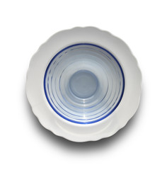 white and glass dishes