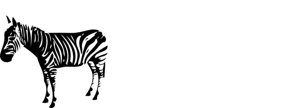 alone zebra outline
