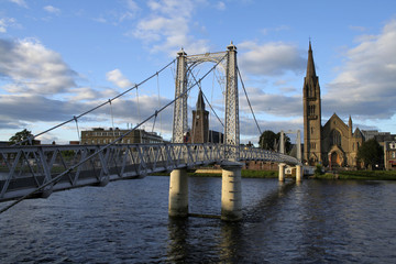 Bridge over the Ness in Inverness, Scotland