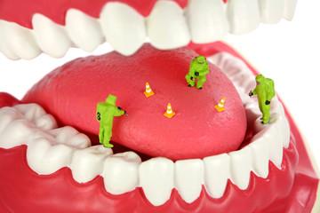 Bad breath concept