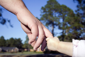 Holding Daddy's Hand