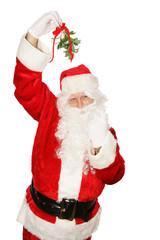 Santa Under Mistletoe