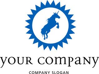 logo mit einhorn
