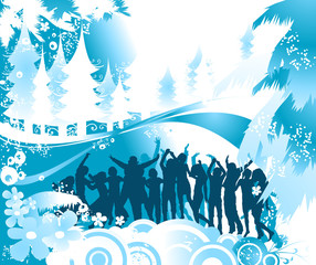 In de dag Groene koraal Christmas composition