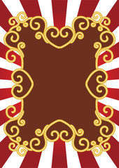 vector illustrations - old-fashioned cord frame.