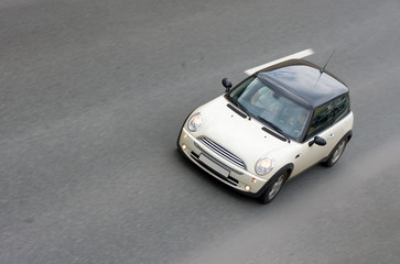 """small minute british car isolated of """"cars"""" series"""