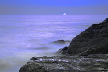 Poster Full moon Moonlit ocean