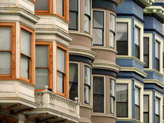 Photo sur Plexiglas San Francisco Victorian Houses in San Francisco