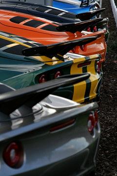 rear supercar lineup