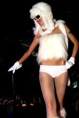 sexy dance girl in night club