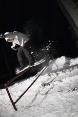 Night snowboarding 05
