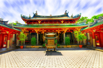 Foto op Canvas Temple Chinese temple courtyard