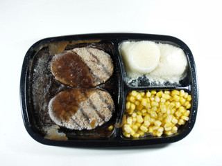 Salisbury steak dinner still frozen
