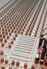 studio mixing soundboard