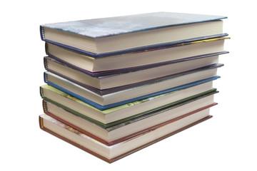 7 books stack white