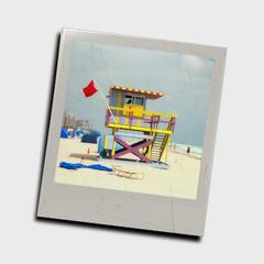 Photo slide of lifeguard tower