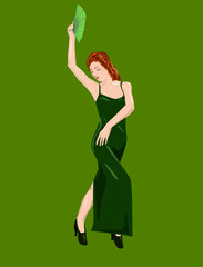 Flamenco dancer's performance