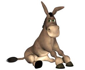 Donkey Cartoon . 1