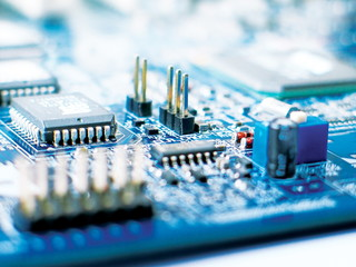 a part of motherboard, macro