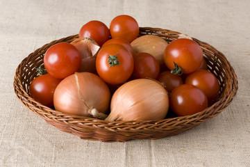 Onion and tomato