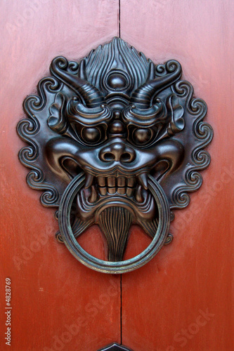 Chinese Black Dragon Door Knocker