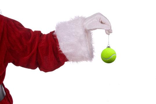 Santa Claus with tennis ornament