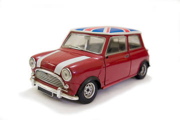 Red uk mini car