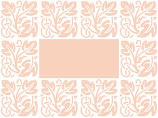 cadre rose et blanc