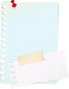 Notes papier, image vectorielle