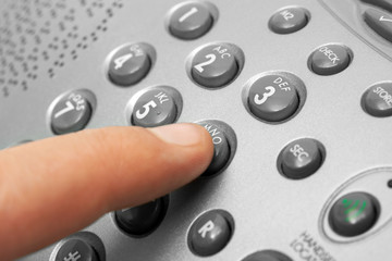 Finger and phone keypad