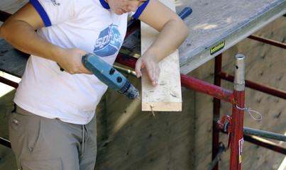 Woman apprentice carpenter