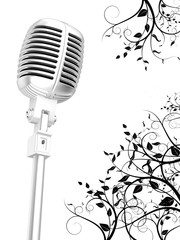 Microphone floral