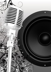 microphone et baffle
