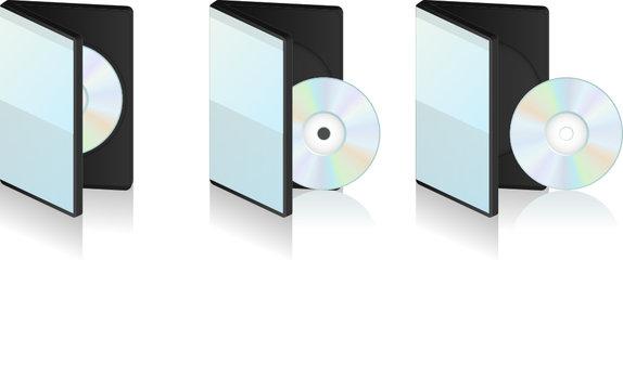 Boitier CD et DVD vectoriel, facilement modifiable !