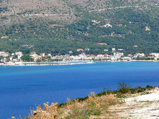 panorama vieuw lefkas island