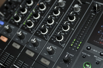 professional dj mixing device studio audio mix buttons